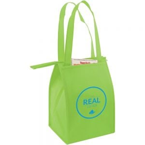 """Cheap Produce Non-Woven Insulated Promotional Tote Bag - 8""""w x 12""""h x 7""""d Dependable Print Manufacturer"""
