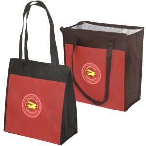 """Order Non-Woven Insulated Promotional Grocery Tote - 12""""w x 15""""h x 10""""d Print Manufacturer"""