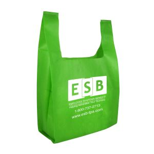 "Non-Woven Reusable Custom Grocery Tote Bags - 13""w x 17""h x 7""d"