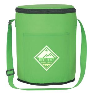 """Economical Manufacture Non-Woven Round Logo Cooler Bag - 11""""h x 9""""dia. Produce in China"""