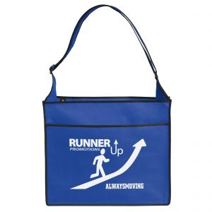 """Cheap Manufacture Non-Woven Trade Show Logo Tote Bag - 14""""w x 12""""h x 6""""d By High Quality Production"""