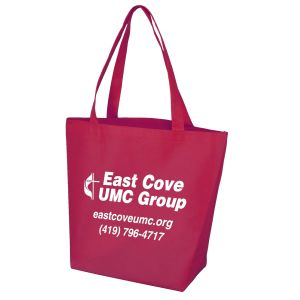 """Order Non-Woven Trade Show Promotional Tote Bag - 14.75""""w x 11.75""""h x 5""""d Top Printing Store"""