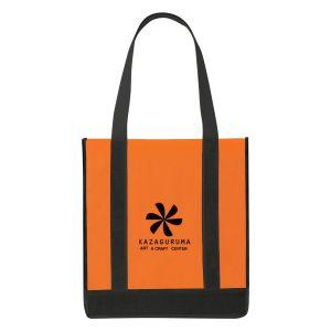 "Cheap Print Non-Woven Two-Tone Custom Tote Bag - 12""w x 13""h x 8""d Best Printing Company"