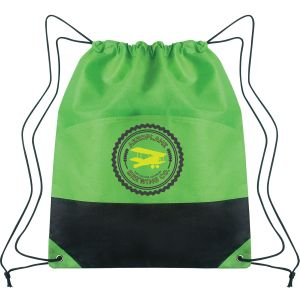 """Sales-Priced Non-Woven Two-Tone Promotional Drawstring Backpack - 14""""w x 17""""h Online"""