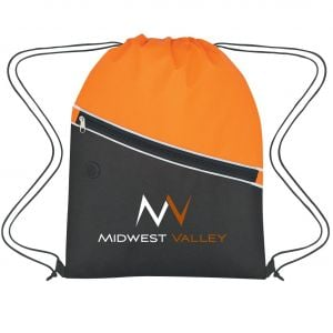 """Lowest Price Non-Woven Two-Tone Promo Drawstring Backpack - 13.5""""w x 17.75""""h Dependable Printing Company"""