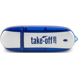 Manufacture in Bulk Oblong Translucent Accent Imprinted USB Drive - 1GB Top Printing Store