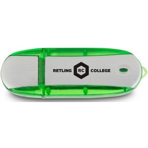 Purchase in Bulk Oblong Translucent Accent Imprinted USB Drive - 4GB Best Print Manufacturer