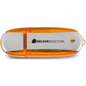 Order in Bulk Oblong Translucent Accent Imprinted USB Drive - 8GB Dependable Printing Manufacturer