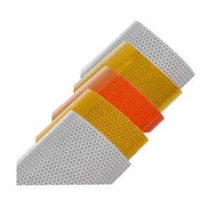 Orange Reflective Stickers | Custom Reflective Labels
