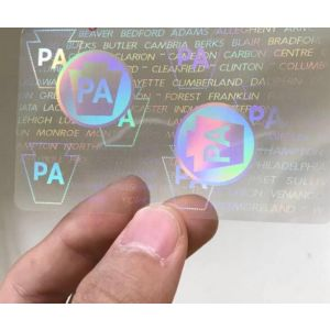 Custom Pennsylvania Hologram Overlay Stickers | PA ID Hologram Overlay