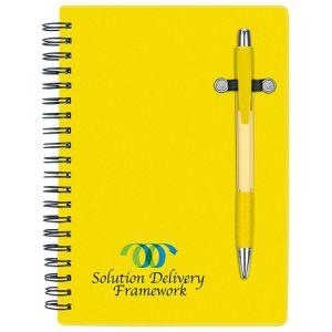 "Economical Print Pen-Buddy Spiral Custom Notebook - 5""w x 7""h Best Print Manufacturer"