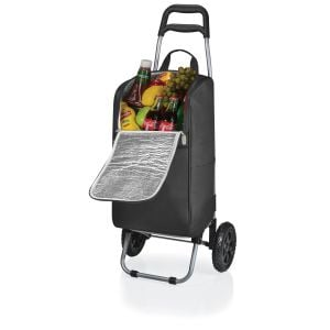 Best Print Picnic Time Rolling Cart Insulated Logo Cooler - 22 Can Dependable Printing Factory