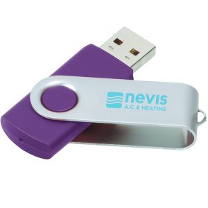 Buy in Bulk Printed Swing Custom USB Flash Drives - 4GB Best Printing Manufacturer