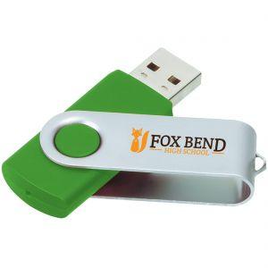 Cheap Produce Printed Swing Custom USB Flash Drives - 8GB Top Print Supplier
