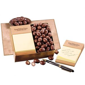 Reasonable Priced Promo Chocolate - Beech Post-It Note Holder w/ Chocolate Almonds Print Supplier