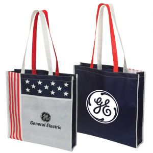 """Manufacture Promotional Non-Woven USA Show Tote Bag - 16""""w x 3""""d x 15.5""""h Printing Manufacturer"""