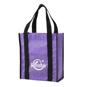 """Buy Quilted Non-Woven Custom Tote Gift Bag - 8.25""""w x 9.5""""h x 4""""d At Low Offer"""