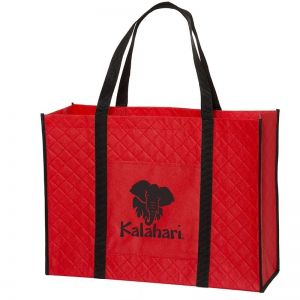 """Low Price Quilted Non-Woven Custom Tote Bags - 18.13""""w x 13.5""""h x 6.25""""d Top Printing Manufacturer"""