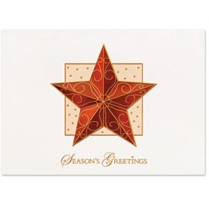 Cheap Manufacture Raised Relief Ornament Star Imprinted Holiday Greeting Card Best Printing Company