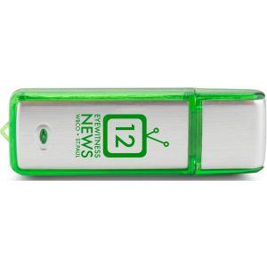 Budget Rectangle Translucent Accent Logo USB Drive - 2GB Best Printing Company