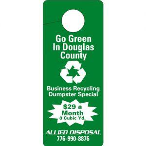 Wholesale Recycled Cardboard Logo Door Hanger Online store