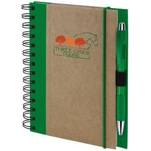 """Personalized Recycled Colored Spine Promotional Notebook - 5.5""""w x 7""""h Print Factory"""