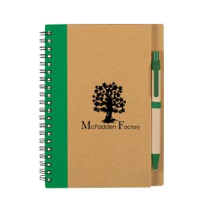 Manufacture in Bulk Recycled Custom Spiral Notebook w/ Matching Pen By High Quality Production
