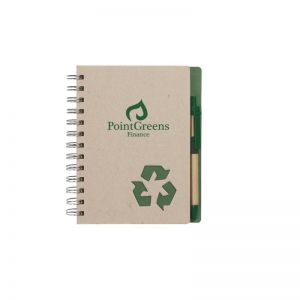 """Top Recycled Spiral Lined Custom Notebook - 5""""w x 7""""h Made in China"""