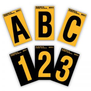 Reflective Number Stickers | High Vis Stickers