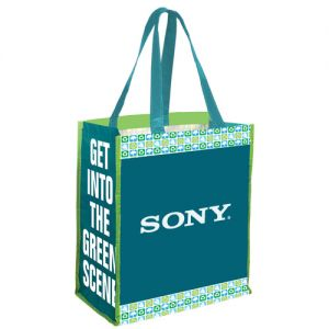 "Wholesale Reusable PET Custom Tote Bag w/ Recycling Stock Art - 14""w x 16""h x 7.75""d Top Printing Manufacturer"