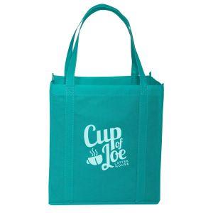"Reusable Shopping Custom Tote Bag 12""w x 13""h x 8""d"