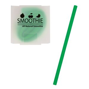 Reasonable Priced Reusable Silicone Custom Straw w/ Case Top Printing Supplier