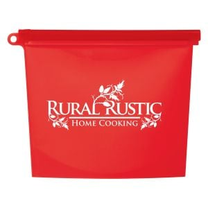 Economical Manufacture Reusable Silicone Slide-Lock Custom Food Bag Best Printing Supplier