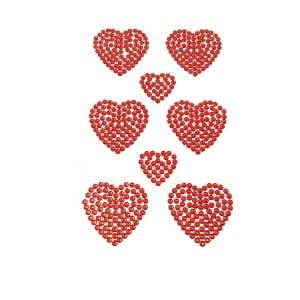 Rhinestone Heart Stickers | Self Adhesive Rhinestones