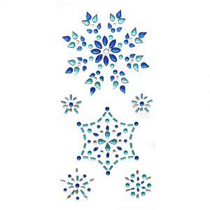 Rhinestone Snowflake Stickers | Bling Adhesive Rhinestones