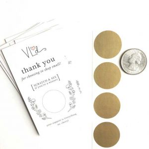 Round Scratch off Stickers | Scratch Card Stickers