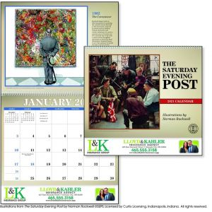 Economical Produce Saturday Evening Post - 12 Month Appointment Custom Calendar Dependable Print Factory