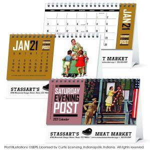 Buy Saturday Evening Post Custom Desk Calendar At Low Offer