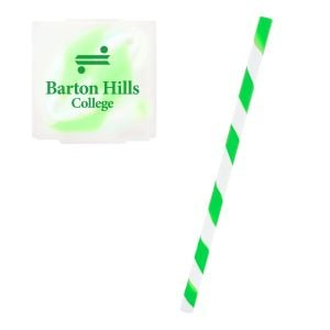 Economical Print Silicone Spiral Straw w/ Promotional Case Best Printing Manufacturer