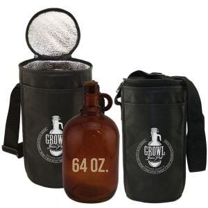 Bargain Single Growler Insulated Custom Non-Woven Bag - 64 oz. Best Printing Manufacturer