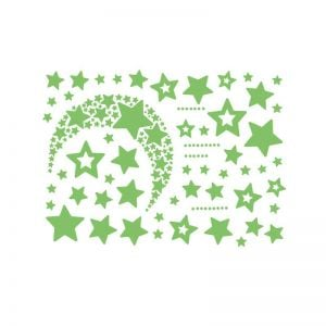 Night Star Stickers | Radium Stars for Room Decoration