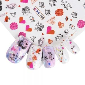 Kiss Nail Stickers | Nail Polish Decals