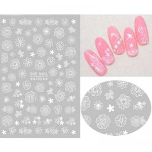 Girls Nail Stickers | 3D Nail Stickers