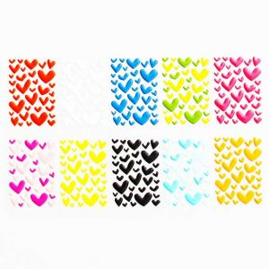 Heart Epoxy Stickers | Custom 3D Decals