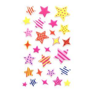 Puffy Star Stickers | Glitter Puffy Stickers