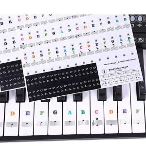Piano Keyboard Stickers | DIY Keyboard Letter Stickers