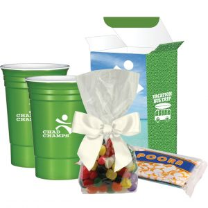 Wholesale Solo Cup-Style Custom Tumblers w/ Popcorn & Candy Gift Set - 16 oz. Top Printing Company