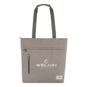 """Economical Solo Re:store Heather Custom Laptop Tote - 15"""" Dependable Printing Company"""