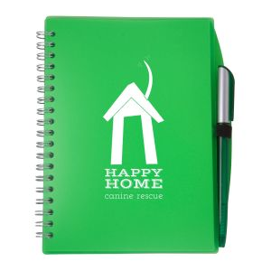 """Wholesale Spiral Bound Unlined Custom Notebook w/ Pen - 5.75""""w x 7""""h Best Printing Company"""