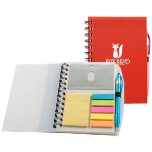 "Economical Produce Spiral Custom Notebooks w/ Sticky Notes & Flags - 5""w x 7""h Dependable Print Supplier"